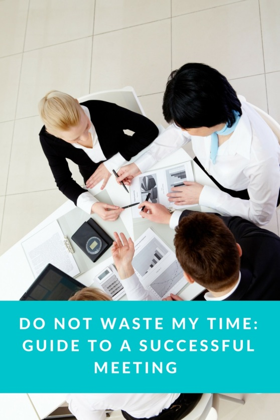 Do Not Waste my time- Guide to a Successful Meeting