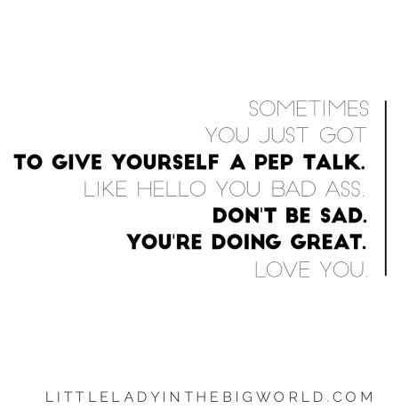 pep talk quote