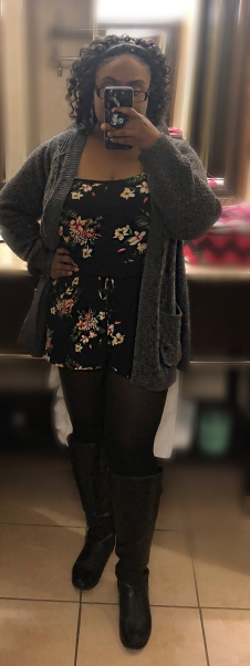 I tried tights with a floral romper and it worked out!